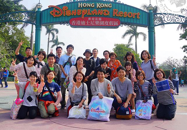 香港ディズニーランドにて
